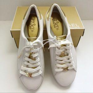 Michael Kors Jet Set Tennis Shoes Irving 9.5 white